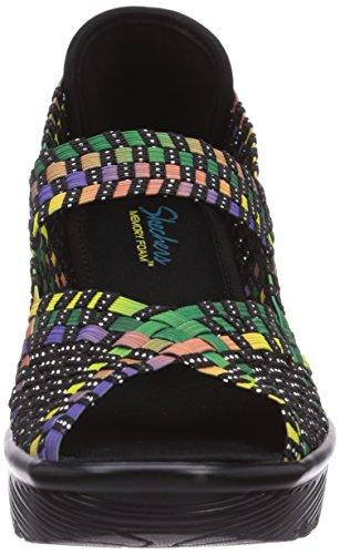 Skechers Parallel, Sandali aperti donna Multicolore (Mehrfarbig (MLT))