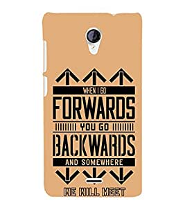Forwards Backwards 3D Hard Polycarbonate Designer Back Case Cover for Micromax Canvas Unite 2 A106