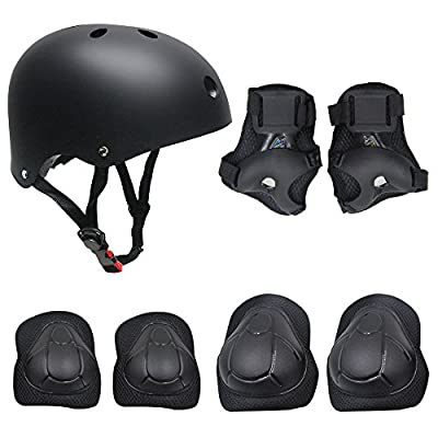 TOPFIRE Children's Scooter BMX Bike Helmet, Gel Knee, Elbow Pads and Hand Pads by China