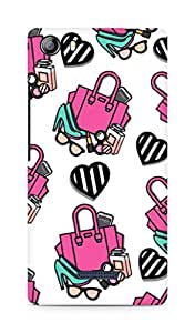 Amez designer printed 3d premium high quality back case cover for Micromax Canvas 5 (E481) (bags accessories makeup collage )