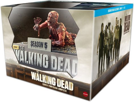 The Walking Dead (Season 5) - 10-Disc Box Set & Asphalt Walker Figurine ( ) (Blu-Ray & DVD Combo) [ Spanische Import ] (Blu-Ray)