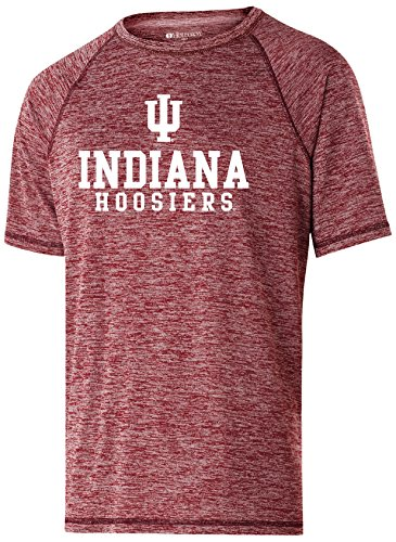 Ouray Sportswear NCAA Indiana Hoosiers Men's Electrify 2.0 Short Sleeve Shirt, Small, Cardinal Heather -