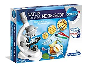 Clementoni Galileo 69804 - Juego Educativo de experimentos con microscopio (Instrucciones en alemán)
