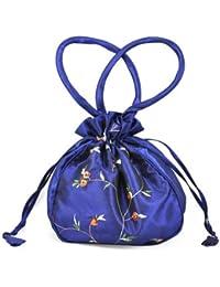 Gleader Dolly bolsa bordada, tarde, la dama de honor nupcial de la boda del bolso - azul oscuro