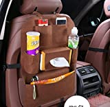 #5: Dtes Car Organizer for Kids and Cars, Must Have For Baby Travel Accessories And Kids Toy Storage, Premium Quality and Eco Friendly Material Brown