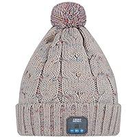 August EPA30 – Bluetooth Mütze – Winter Beanie mit Bluetooth Stereo Kopfhörer, Mikrofon, Freisprechen und integriertem Akku (Grau)