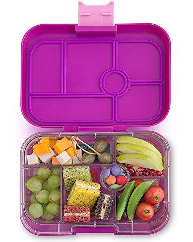Yumbox Original M Lunchbox - (Bijoux Purple, 6 Fächer) - Brotdose mit Unterteilung | Bentobox mit Trennwand Einsatz für Schule und Kindergarten Kinder, Picknick, Arbeit sowie Uni
