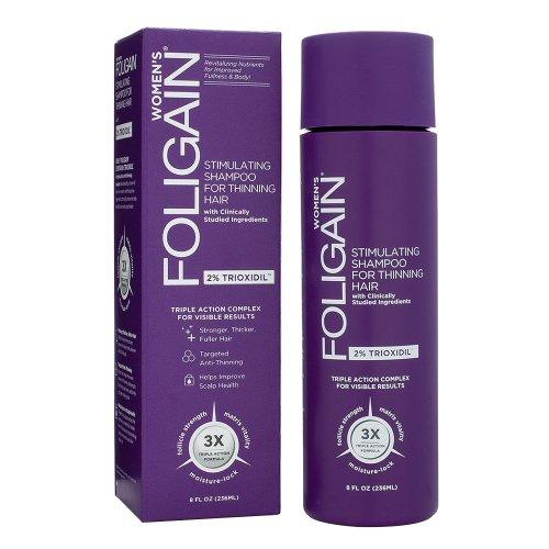 Foligain® Frauen Anti-Haarausfall Shampoo   2% Trioxidil   Gegen Feines & Dünner Werdendes Haar   Natürliche Wirkstoffe (1) -