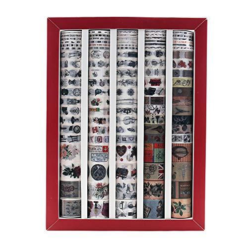 Lychii 100 Rollen Washi Tape Set, Dekoratives Klebeband, Kollektion für Bastler, verschönert Journals, Planer, Karten und Scrapbooking (Set B)