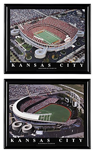 Kansas City Royals Kauffman Stadium (BlowOutBarn Kansas City Chiefs Football Arrowhead Stadion und Kansas City Royals Baseball Kauffman Stadium - Set von 2)