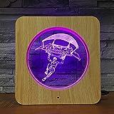 Standard Mädchen Kunststoff Nachtlicht Rahmen Lampe Tischlampe Kinder Farbe Geschenk Heimtextilien Drop Transport