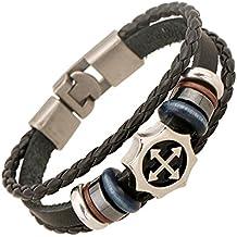 9641d42823a5 pulseras cuero para hombre - Amazon.es