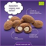 ✅ Vegane, glutenfreie Bio rohe schokolierte Mandeln Nüsse in Kakaohülle mit Edel Criollo Schokolade überzogen 500g (Rohschokolade 100%) in Rohkost-Qualität, ohne Milch