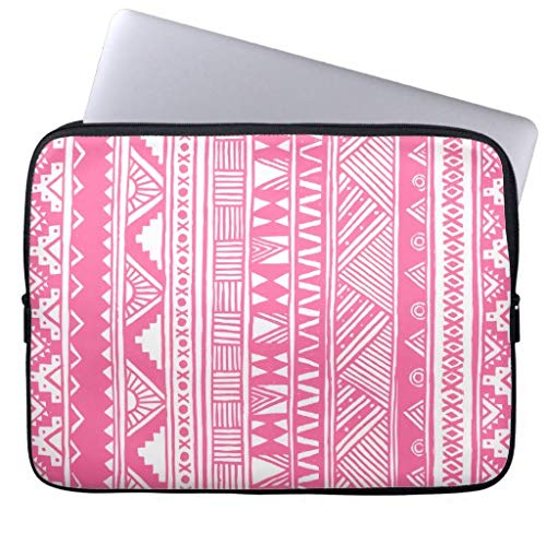 qidushop White Pink Girly Aztec Geometric Pattern 11.6 12 Inch Laptop Sleeve Cute Notebook Computer Case for Apple MacBook Acer (Aztec Acer-laptop-tasche)