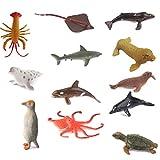 Lot de 12pcs Figurine Animaux Marins en Plastique Modèle Jouet ...