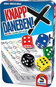 Schmidt Spiele 51426Knapp DANEBEN, Caja de Metal