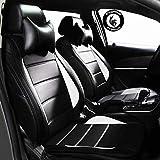 #9: PegasusPremium Pu Leather Car Seat Cover Black White For Tata Nexon