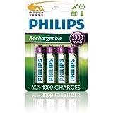 Philips R6B4A230 Batterie rechargeable pour Appareil photo 2300mAh AA 4 pièces