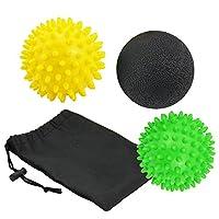 Zilong Massageballmit Noppen, Igelball, Lacrosse Ball für Selbstmassage von Verspannungen und Triggerpunkten