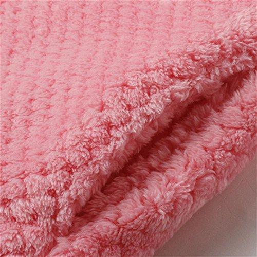 CHUNHUA Chaud épais en automne et hiver, taille plus ouatine de corail pyjama mis vêtements de flanelle , pink , xxl Pink