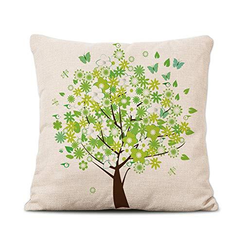 Flower Fairy Leinen Kissen Kissen modernen chinesischen Druck Mittagspause Kissen Kissenbezug Sofa Kissen YM0017 45x45cm