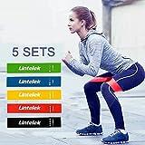 Lintelek Fitnessbänder Widerstandsbänder Trainingsbänder Übungsband 5er Set Gymnastikband Fitnessband Miniband Loopband elastisch Band Yoga Pilates