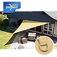 sunprotect 83202 Professional Toldo / Vela de Sombra, 5 x 5 x 5 m, Triángulo, beige