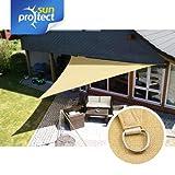 sunprotect SPT83202 Sonnensegel professional, 5 x 5 x 5 m, Dreieck, beige (1 Stück)