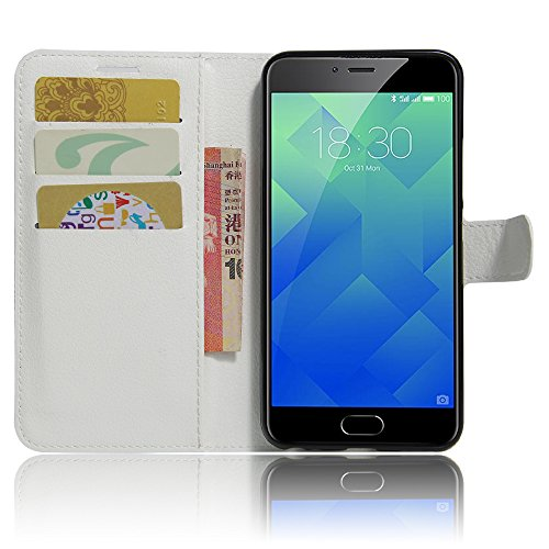 GARITANE Meilan 5/Meizu M5 Hülle Case Brieftasche mit Kartenfächer Handyhülle Schutzhülle Lederhülle Standerfunktion Magnet für Meilan 5/Meizu M5 (Weiß)