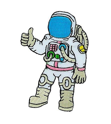 Patch logo ricamato termoadesivo, motivo bandiera backpack astronauta cosmonauta