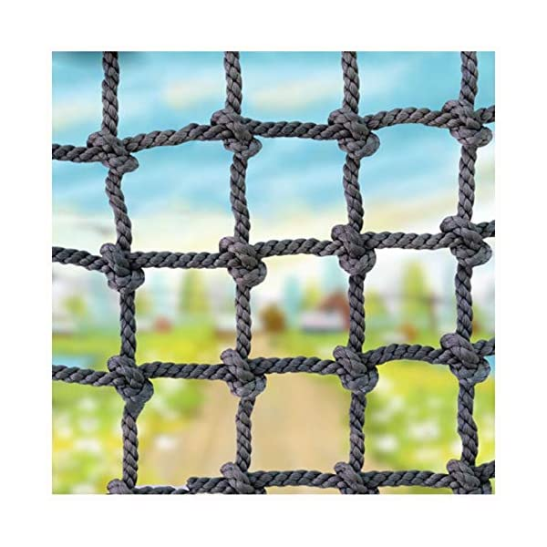 """XXN Net Fence for Yard,Multi-purpose Use Load Fixed,Cargo Rope Ladder Truck Trailer Heavy Deck Netting Railing Balcony Stair Fence Decoration Kids Adult Nylon Outdoor Climbing Safety Protection Rope XXN ❤Auxiliary image display uses only scene reference,the main picture color is main.The safety net has a diameter of 14mm(0.55"""") and a mesh size of 12cm(4.72""""). The mesh edge is strengthened, the mesh is even, the pulling force is strong, the sunscreen, the weatherproof, the firm and the wearable. ❤The rope net is mainly used for climbing, not only for ordinary children and adults, but also for balconies, stairs, pets, children, gymnasiums, playgrounds, gardens, schools or sports clubs, and isolating truck cargo. It prevents objects from falling and ensures the safety of pets, children, etc. ❤Safety Tip: Regularly check the safety net for safety hazards caused by various external or human factors to protect safety. 1"""