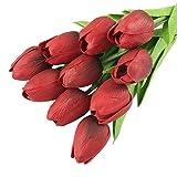 TAOtTAO Tulip Künstliche Blume Latex Real Touch Braut Hochzeit Bouquet Home Decor 30 stücke (A)