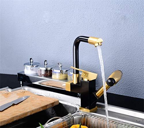 / 360 ° drehbarer Wasserhahn/keramikspule + Raum Aluminium Material/doppelkopf Wasser/versenkbare Du hast es verdient ()