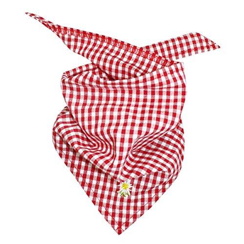 BONDI Karotuch ´EDELWEISS´ Tracht Baby Jungen Art. 90880 (karo rot/weiss) (Kinder Tracht)