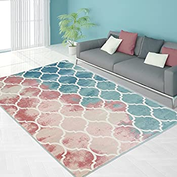 Carpetcity Teppich Flachflor In Pastellfarben Mit Klassischen Design,  Marokkanisches Ornamenten Motiv Für Wohnzimmer, Größe: 160 X 230 Cm