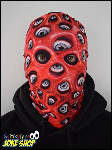 onster Realistische bedruckter Lycra Face Maske für Halloween Fancy Kleid ()