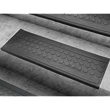 Stufenmatten aus Gummi - 25x75cm - rutschhemmend, für Innen- und Außentreppen - verschiedene Stückzahlen (5er-Vorteilspack)