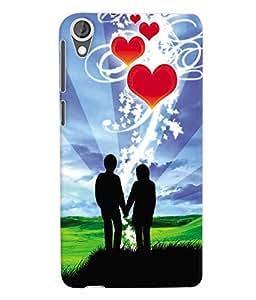 Fuson 3D Printed Valentine Wallpaper Designer Back Case Cover for HTC Desire 820 - D714