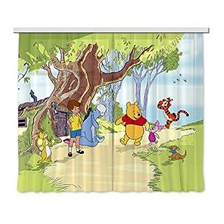 Gardine/Vorhang FCS xl 4306 Kinderzimmer Disney Winnie The Pooh