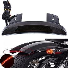 Tuincyn Recambio Lente roja trasera Motocicleta Luz LED borde guardabarros Placa Licencia luz de freno para