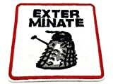 Patch Nation Sterminare Dalek Dr Who Iron On Sew on embroidered Kids Fancy Dress Cosplay patch