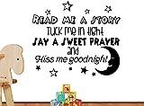 # 3Read Me A Story Tuck Me in Tight Say A Sweet Prayer Stars Cute Inspirierende Family Love Vinyl Zitat Spruch Art Wand Schriftzug Schild Room Decor