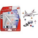 Unbekannt Flughafen Set, mit Flugzeug und Rollfeld Fahrzeug mit Anhänger, 29x19cm: Kinder Spielzeug Spiel Verkehrszeichen