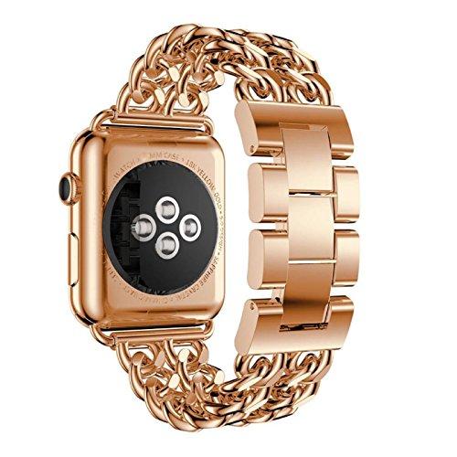 komise Edelstahl Watch Band Ersatz Watch Band Strap für Apple Watch Series Neu 338mm/stilvolle Zarte und elegante aussehende Einheitsgröße rose gold (Watch Bands Ersatz Seiko)
