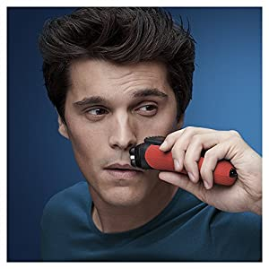 Braun Series 3 ProSkin 3030s Electric Shaver for Men/Rechargeable Electric Razor - Red