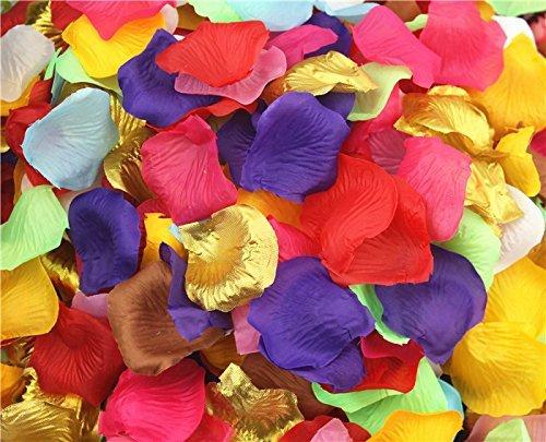 1000pcs Mix Color (10colores) pétalos de rosa de seda Lapis Deep Jarrón...