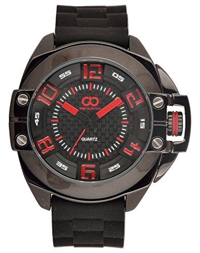 Gio Collection Analog Black Dial Men's Watch - GLED-1560PX image