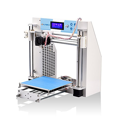 JGAURORA 3d Printer Desktop DIY 3d Printers Self Assembly Metal Frame Prusa i3 kit ABS PLA filament 1.75mm with UK Plugs