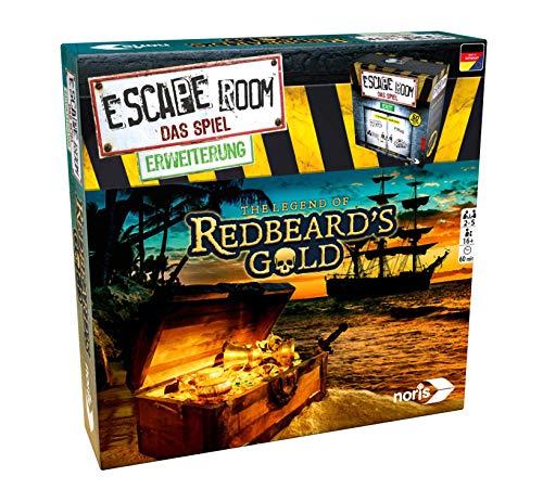 Noris 606101797 Escape Room Erweiterung Redbeards Gold, nur mit dem Chrono Decoder Spielbar