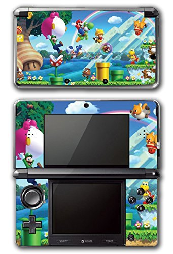 New Super Mario Bros 2 3D Land World Luigi Goomba Gold Bowser Princess Video Game Vinyl Decal Skin Sticker Cover for Original Nintendo 3DS System by Vinyl Skin Designs